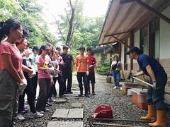 二格山自然中心,手作步道課。圖片來源:千里步道