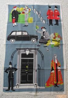 Irish Linen tea towel - London Characters No. 2.
