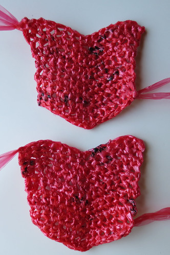 Free Crochet Pattern Using Plastic Bags : Crocheted Plastic Bag Soles Part 2 My Recycled Bags.com