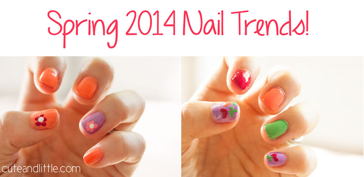 cute & little blog | spring 2014 nail trends | flower nail art | neon bright colors | #walgreensbeauty #shop