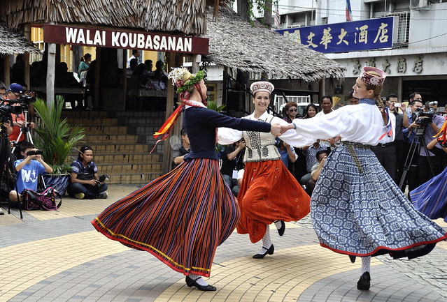 Latvia folk dance