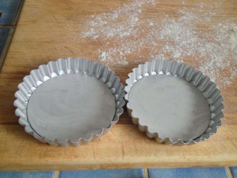 Chocolate Dolce Tart : Prepare the Mini Tart Tins