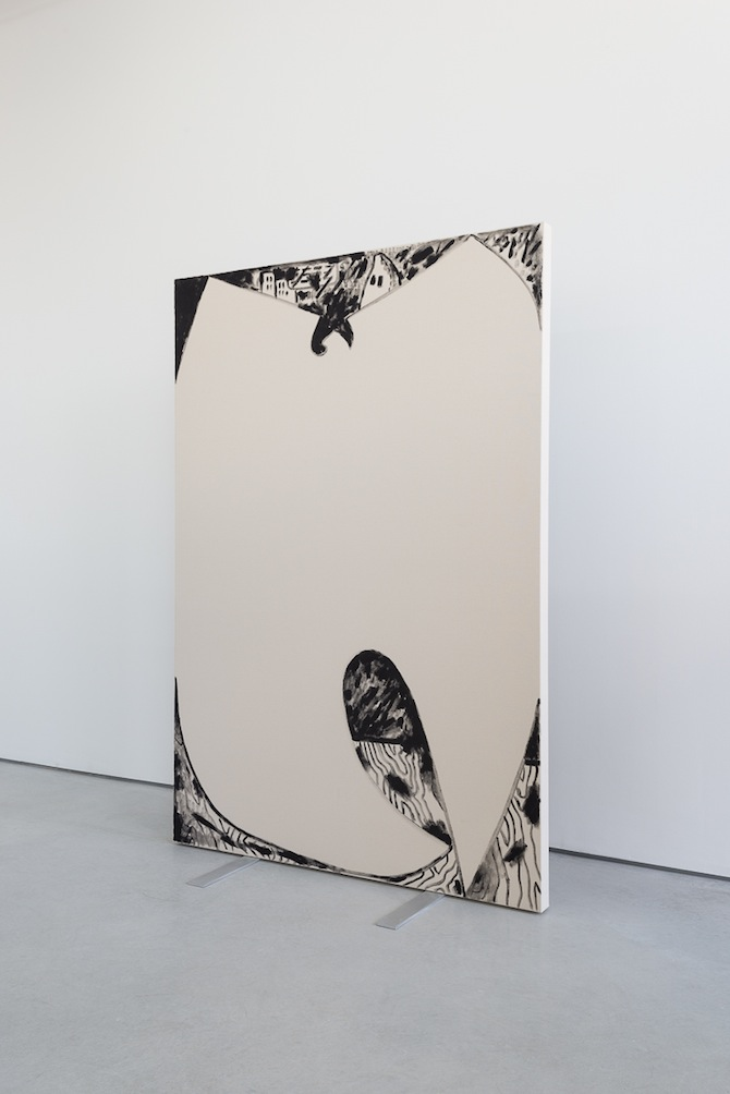 "Luc Fuller ""Standing Paintings"" at Rod Barton, London // © Luc Fuller / Courtesy the artist and ROD BARTON, London"