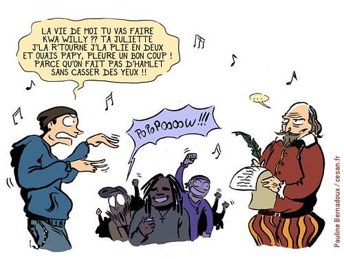Vocabulaire : William Shakespeare humilié par les rappeurs américains, par Pauline Bernadoux