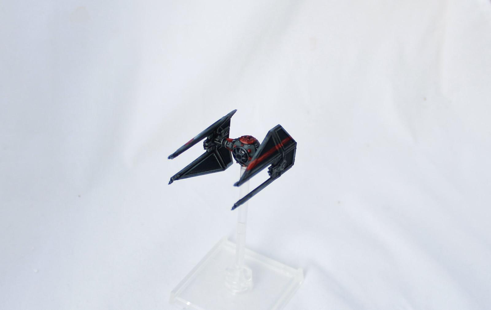 XWingMinis X-Wing Miniatures TIE Interceptor Imperial Aces Repaint Saber Squadron