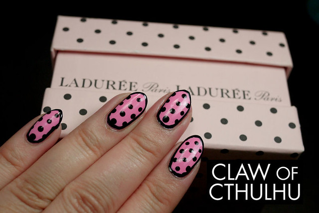 Essence Free Hugs Polka Dot and Outline Nail Art