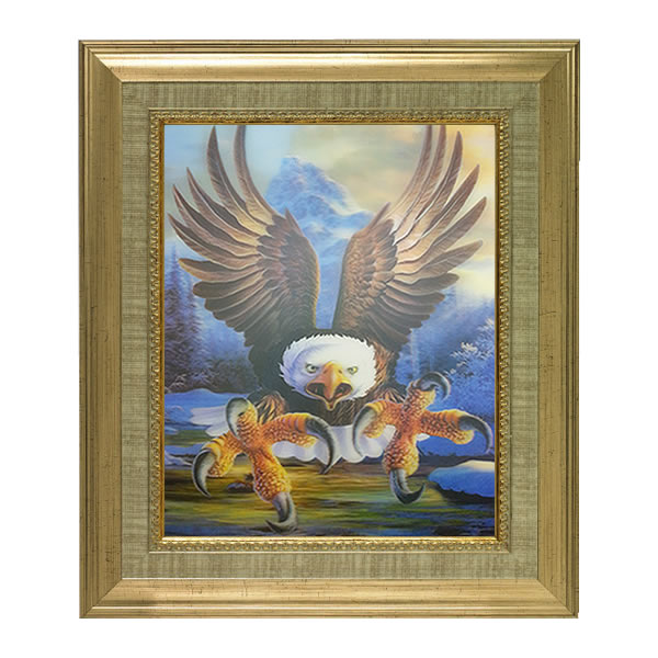 New eagle lenticular 3d picture animal poster painting for Eagle decorations home