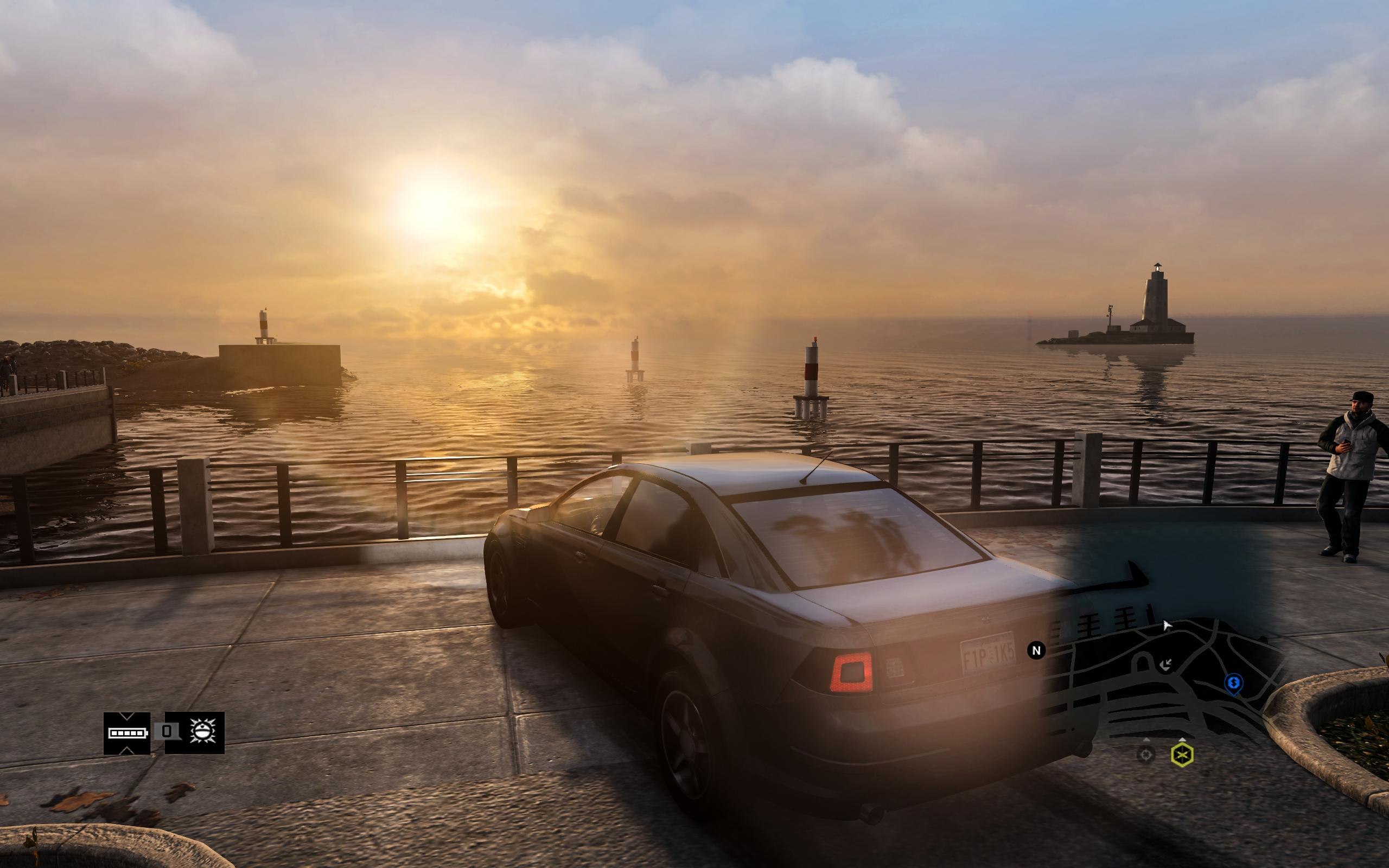 Sunset in Watch Dogs