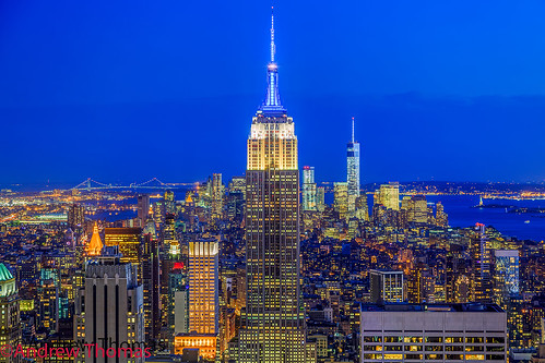 nyc usa newyork building state center empire bluehour rockefeller manhatten ef24105mm andrewthomas canon5dmk3
