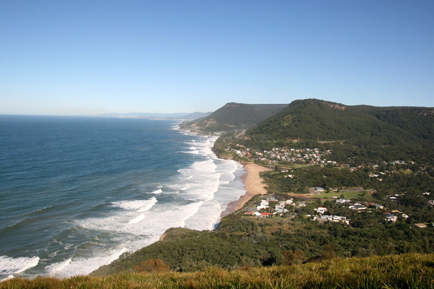 Bald Hill Lookout along coast of NSW