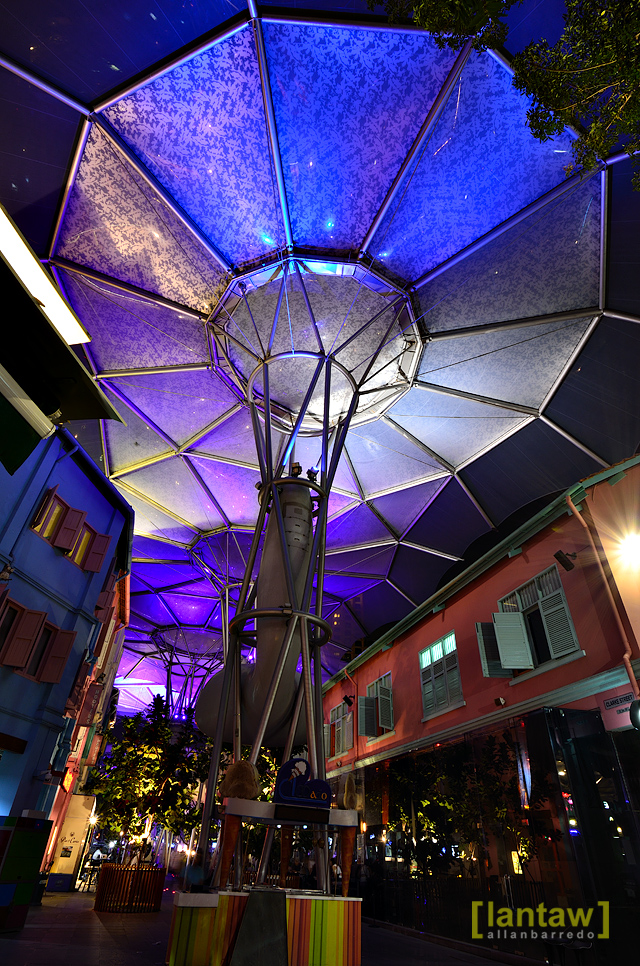 Clarke Quay Colored Umbrella