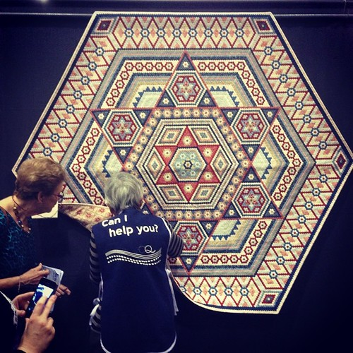 "My favorite quilt from the Melbourne show - 22,500 1/4"" hexagons! Stunning!!"