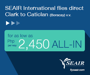 Book your SEAIR flight to Caticlan Now!