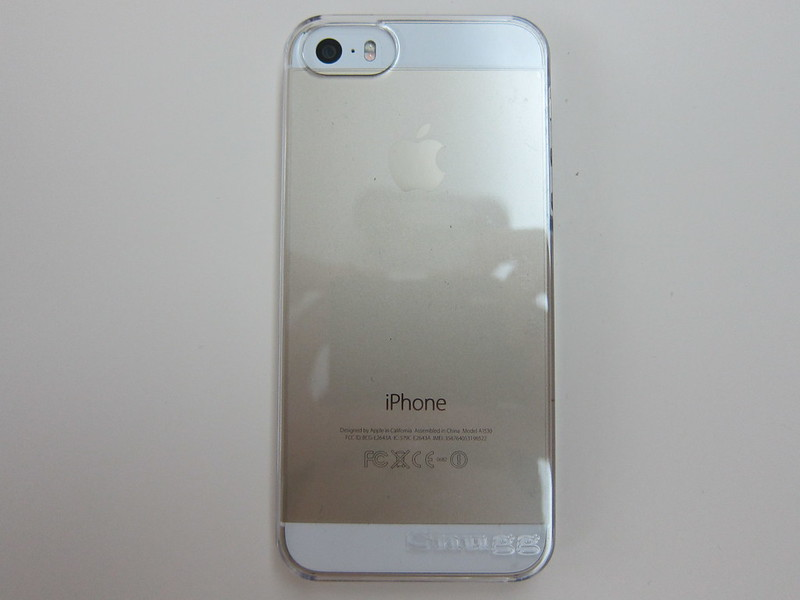 Snugg iPhone 5s Ultra Thin Clear Case - With iPhone 5s (Back)