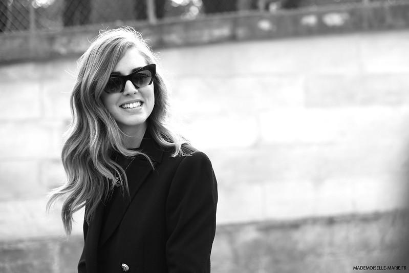 Chiara Ferragni street style paris