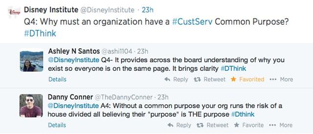 disneyinstitute-DThink Twitter Chat Recap: Designing Customer Service