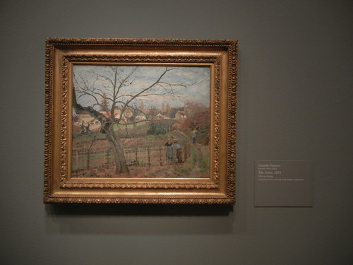 DSCN1831 _ The Fence, 1872, Camille Pissarro, National Gallery of Art at Legion of Honor