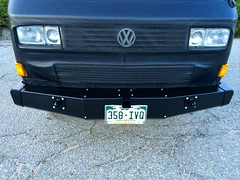 Top front view of bumpers