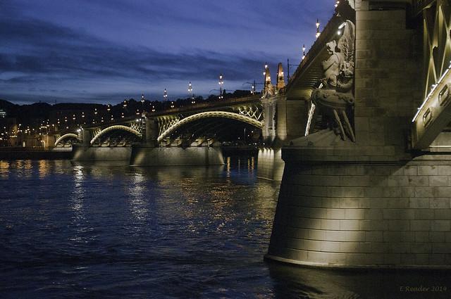 Budapest: Margaret Bridge (Margit hid) At Sunset