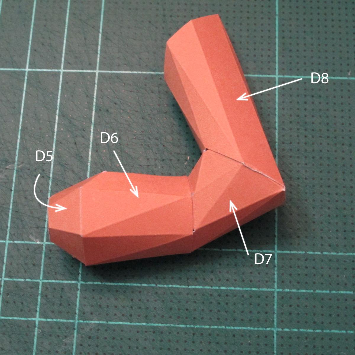 วิธีทำโมเดลกระดาษตุ้กตาคุกกี้รัน คุกกี้รสจิ้งจอกเก้าหาง (Cookie Run Nine Tails Cookie Papercraft Model) 010