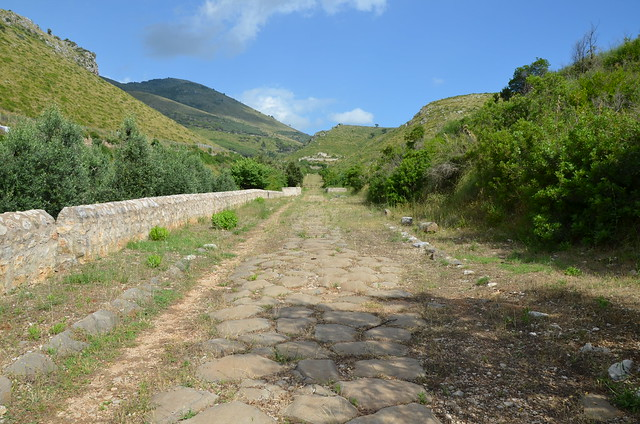 Stretch of the Via Appia at Sant'Andrea, km 126 (Parco Naturale dei Monti Aurunci)