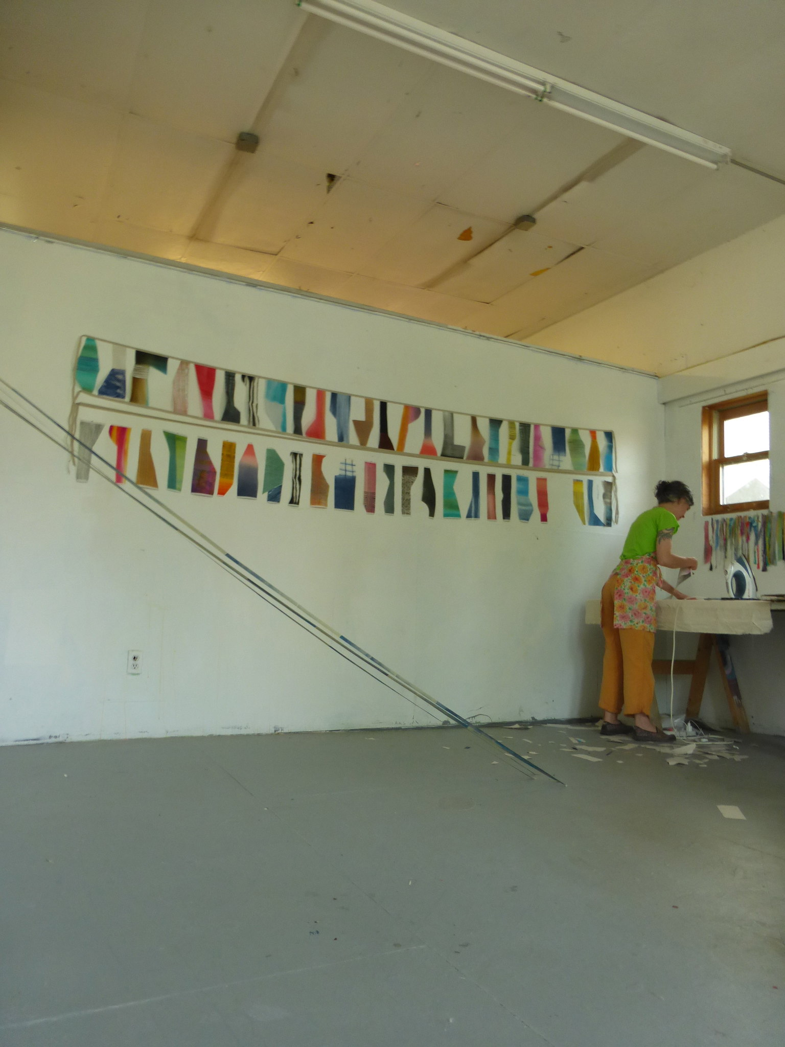 Katy Fischer [visual artist] — studio visit, Vermont Studio Center, July 2014