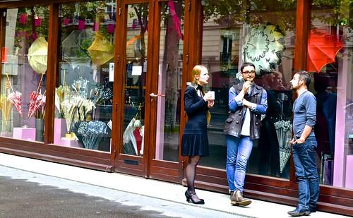 Parisian break, umbrellas and parasols,
