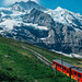 On the way to Jungfrau via Kleine Scheidegg