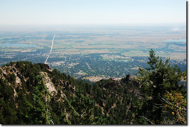 Overlooking Boulder downtown from Green's summit 2