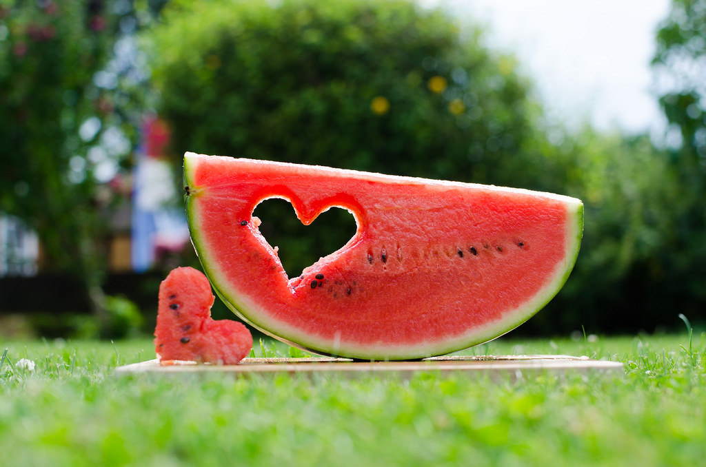 Melone with heart