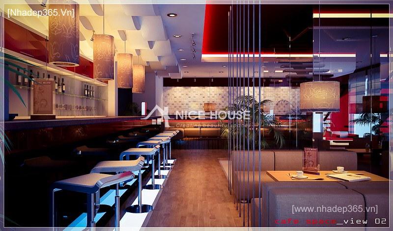 Thiết kế nội thất quán cafe NTC - Hà Nội_2