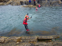 Coasteering at Abereiddy Wales