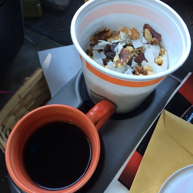 Day 20, #whole30 - breakfast (trail mix & black coffee)