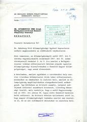 121. Az Országos Rendőr-főkapitányság Rendészeti osztályának levele a Külügyminisztérium Konzuli főosztályához Habsburg Ottó állampolgárságáról