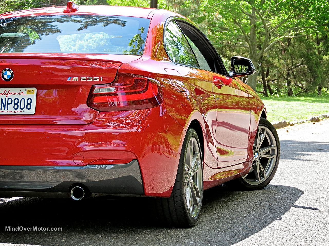 BMW M235i tail lights