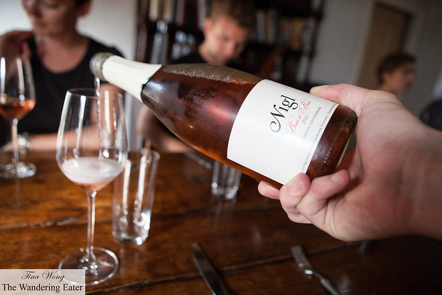 Nigl, Sekt Rosé 2010 to pair with the amuse bouche