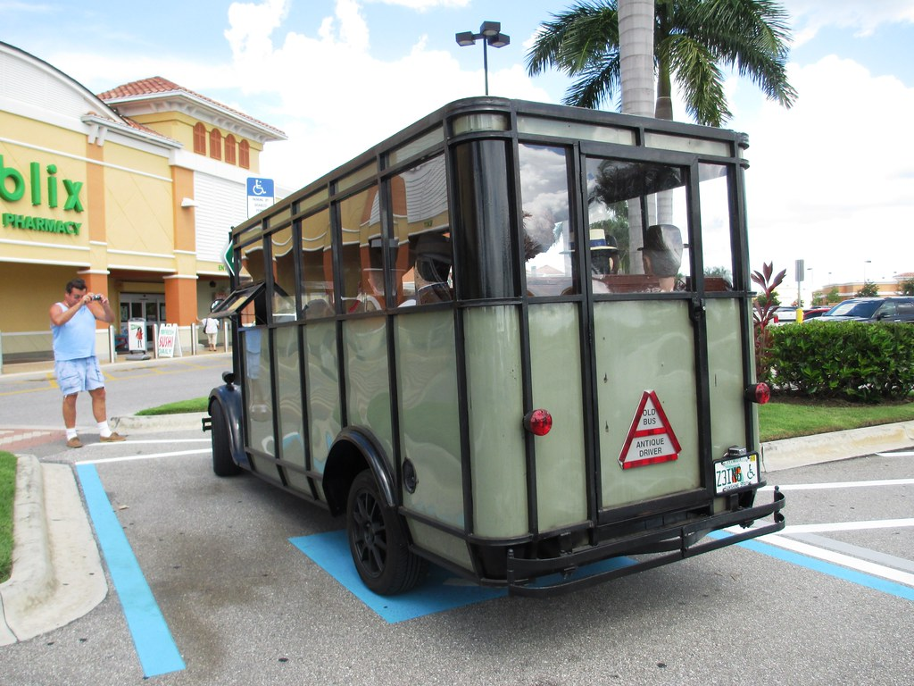 A Publix Shopper Snaps a Photo of the Antique Bus, Aug. 2, 2014