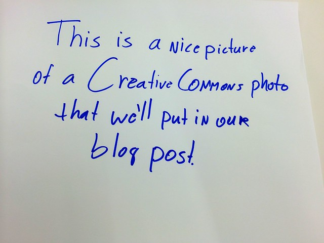 This is a nice Creative Commons photo that we'll use for our blog