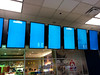 Glitched-out monitors, Dallas Fort Worth Airport, Dallas, Texas, USA by gruntzooki