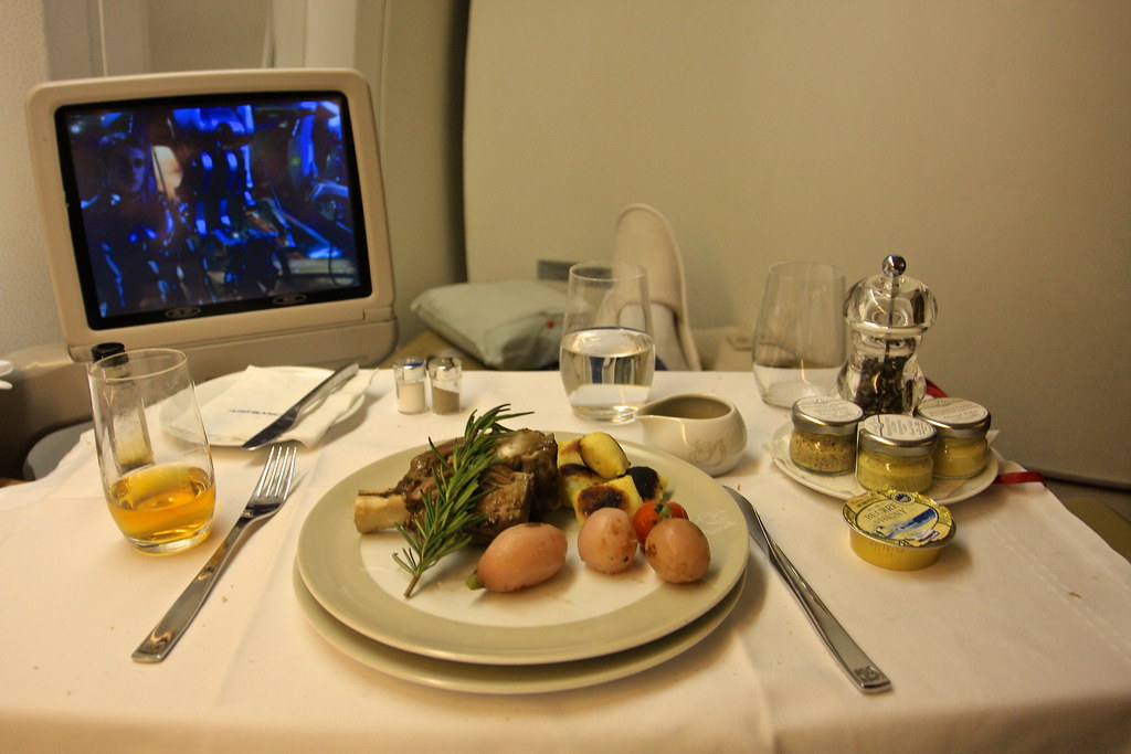 Air France First Class Meal - 777-300ER