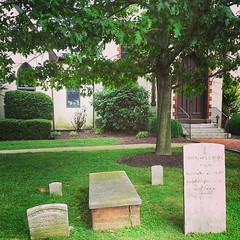 Some interesting graves right in the front of tbe Sassafras church in Earleville, MD.