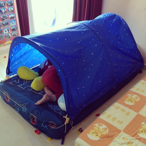 The weather is crappy again and we are back to indoor camping...