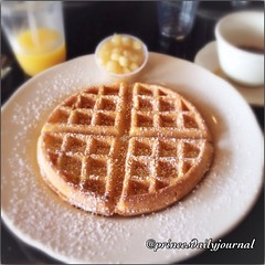 "Early Morning Workout Breakfast. Today my brother and I treated ourselves to breakfast after waterpolo. #whatsprinceeating: ""Belgian Waffle"" www.princesdailyjournal.com #princesdailyjournal #princeinthecity #foodie #food #foodart #iphonephotography #myfab"