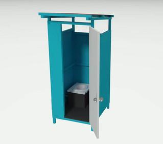 Toilettenhäuschen CAD