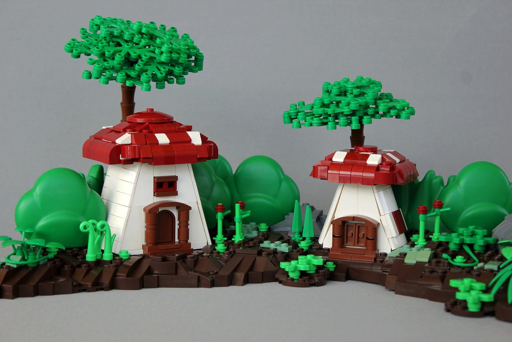 Realm of the Shrooms (custom built Lego model)