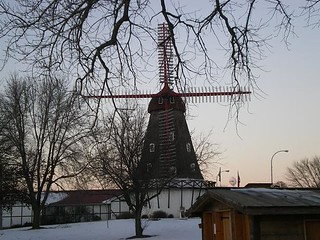 Danish windmill @ sunset - Christmas