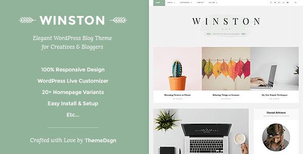 Winston WordPress Theme free download
