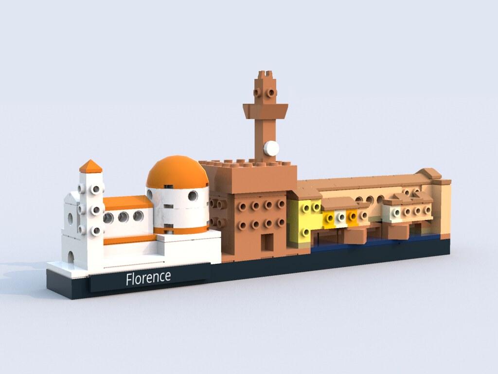 Florence skyline (custom built Lego model)