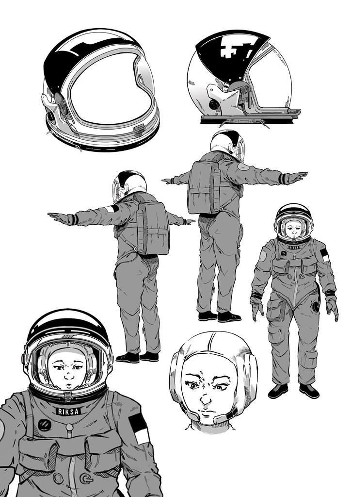 Illustration,Guide,,,astronaut,suit