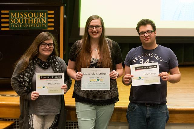 Winners at the Missouri Broadcast Educators Association Meeting